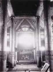 Interior of the Pyatthat of Queen's Golden Monastery, [Mandalay]